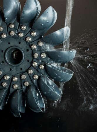 Pelton Water Turbine for generate Electrical by hydro power Standard-Bild
