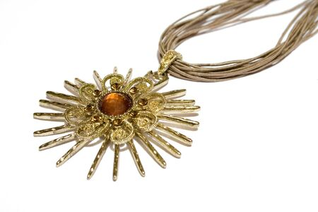 star pendant with jewerly on isolated background photo