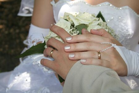 bride and groom hands Stock Photo - 3006853