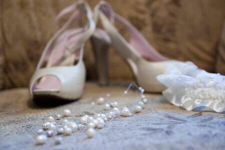 brides shoes background Stock Photo - 4086915