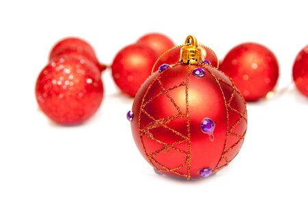 christmas decoration isolated on white photo