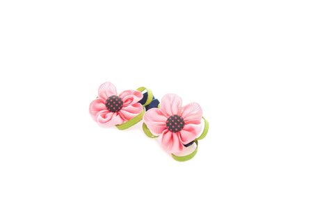 pink flower hairpin photo