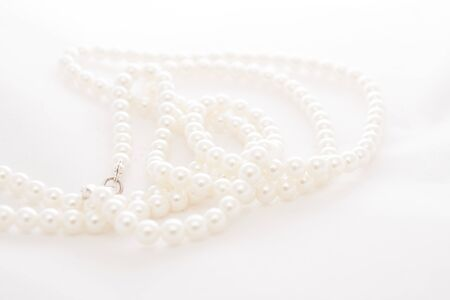 pearls necklace, on a white background photo