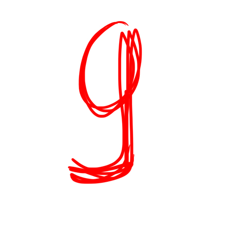 educaton: 9 - Color numbers isolated over the white background