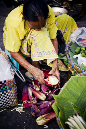 Phitsanulok, Thailand, Life way of the people in food morning market , 01 December 2012 Stock Photo - 17393118