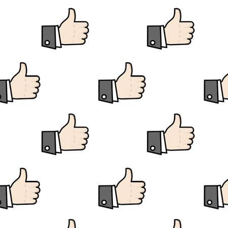 like hand: Seamless like hand pattern