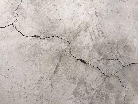 grieta marca de hormigón en el suelo.