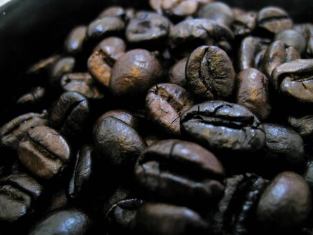 coffee bean roast with long time and high temperature for maximum test of coffee. Reklamní fotografie