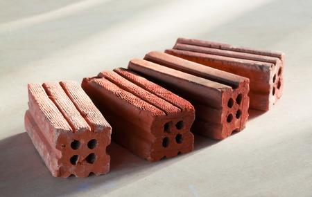 Tower of orange bricks photo
