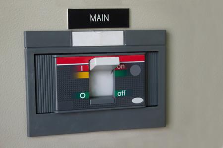 Main breaker of control circuit box