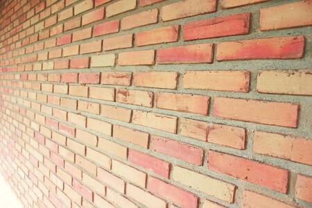 Background of the white red brick wall 版權商用圖片