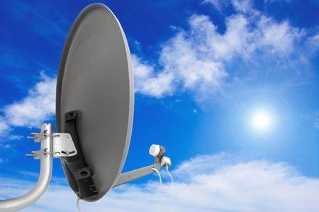 Satellite antenna. photo