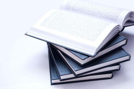 Books conceptual image. Books on lying. Standard-Bild