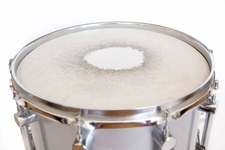 Drums conceptual image. Snare drum on isolated background. photo