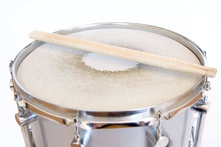 Drums conceptual image. Sticks lies on snare. Stock Photo - 7628709