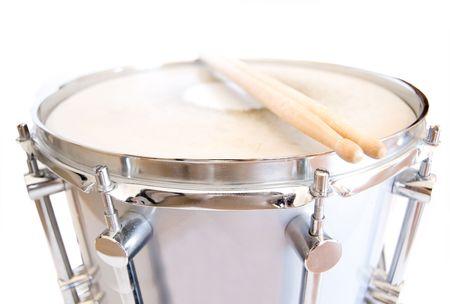 Drums conceptual image. Sticks lies on snare.