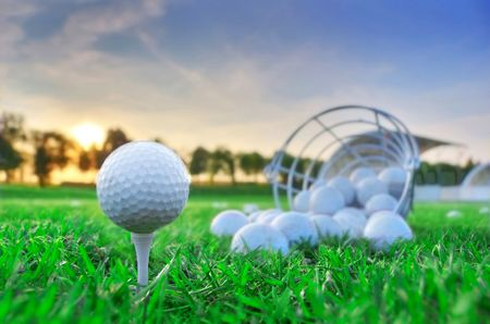 Golf game. Golf balls in grass. Stock Photo - 7971724