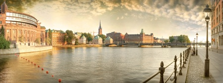 Scandinavia. Panorama of Old Town in Stockholm.