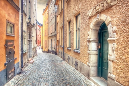 Architecture. Charming street of Stockholm.