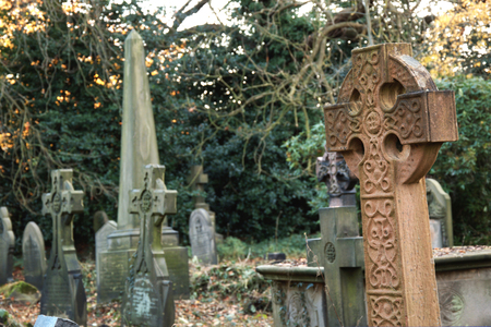 old english: England  Very old english cemetery  Stock Photo