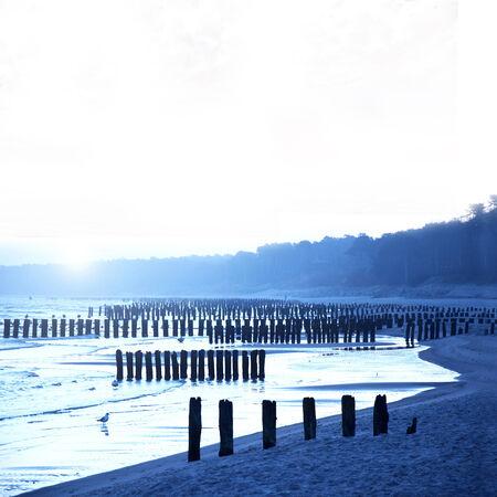 beach landscape: Sea and beach landscape.