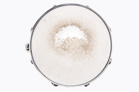 Music conceptual image. Close up of a drum snare on isolated background. Standard-Bild