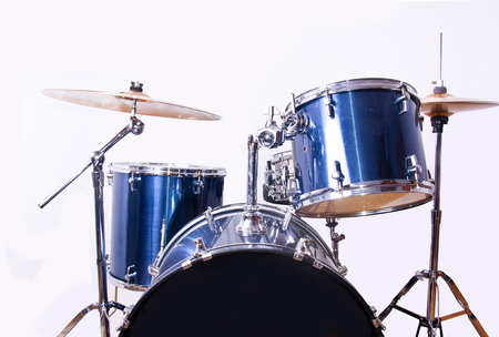 snare: Drums over isolated white background. Music conceptual image. Snare toms and cymbals.
