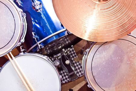 cymbals: Drums percussion. Snare toms and cymbals. Music conceptual image.