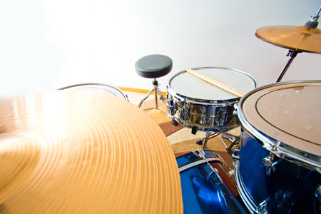 snare: Drums percussion. Snare toms and cymbals. Music conceptual image.