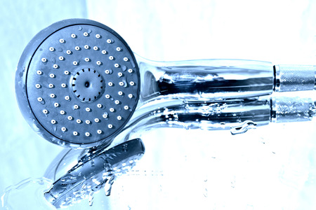 plumb: Handshower and water in the bath.