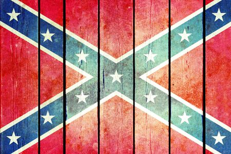confederacy: Confederate wooden grunge flag. Flag of the confederacy painted on the old wooden planks. Vintage retro picture from my collection of flags.