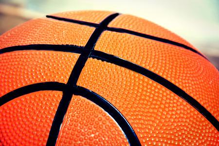 international basketball: Basketball game. Basketball ball close up picture.