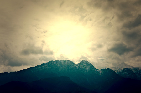 giewont: Giewont in Tatra Mountains. Nature landscape in mountains. Stock Photo