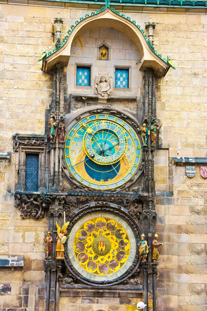 Prague. Old Town Hall with Orloj Astronomical Clock.