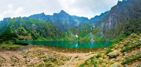 Lake in mountains. Czarny Staw in Tatry.