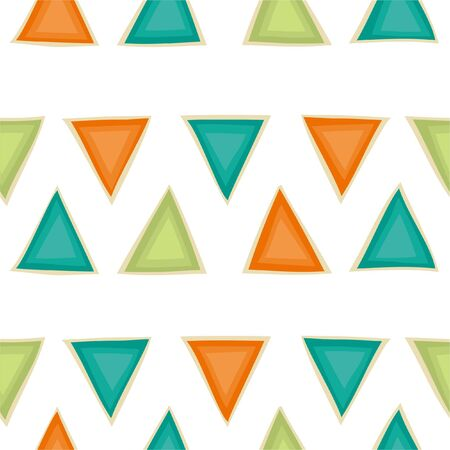 Seamless pattern with triangles a white background. Geometric vector background