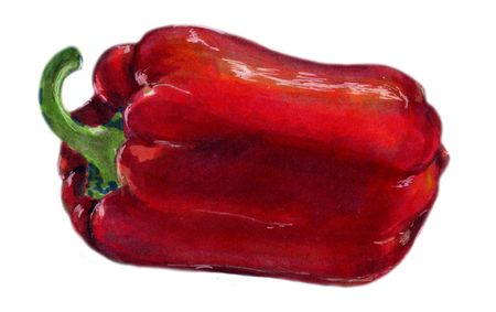 Red bell pepper. Stock Photo