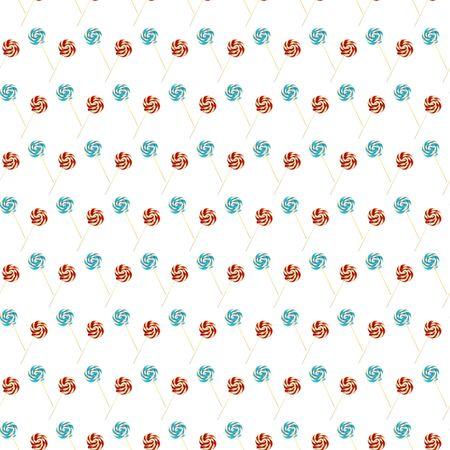 Seamless pattern with sweet lollipop.