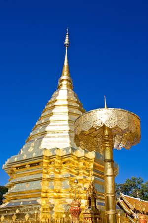 gold pagoda in thailand Stock Photo - 12966179