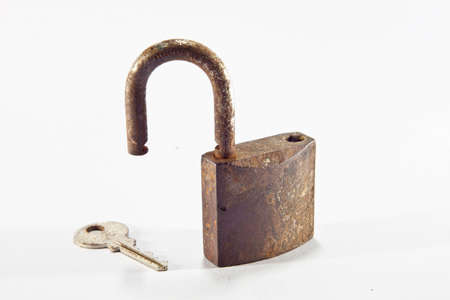 old lock with key photo