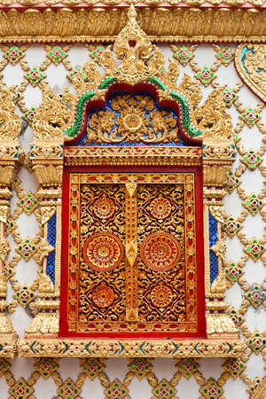 window of thai tample  photo
