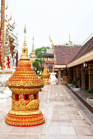 thai traditional style in the outside of thai tample  photo