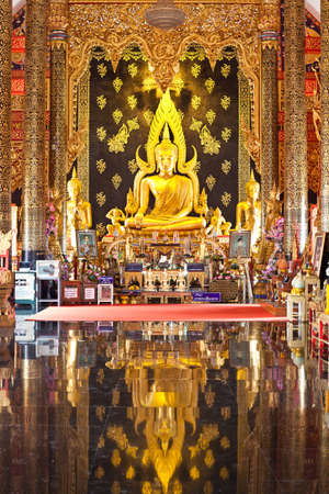 Gold buddha in Church of thailand