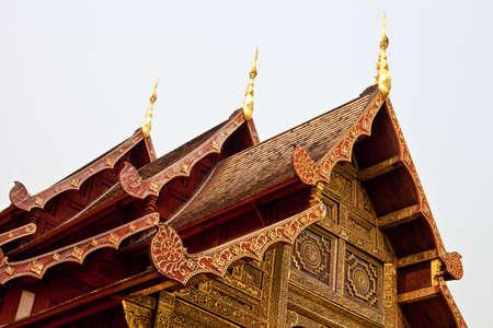 Top of gold thai church Stock Photo - 13833441