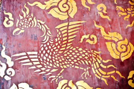Swan of thai texture style