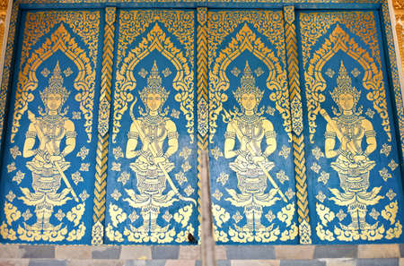 Doors of thai church style  photo