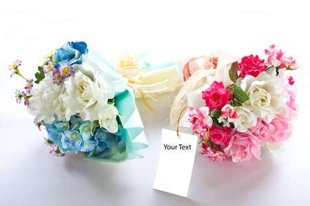 pink wedding flowers  photo