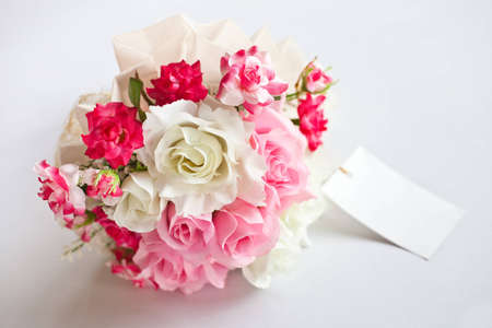Pink wedding flower  photo