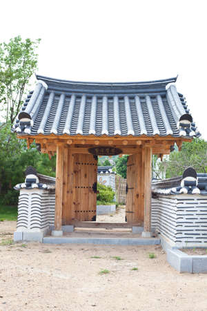 Door of korea style  photo