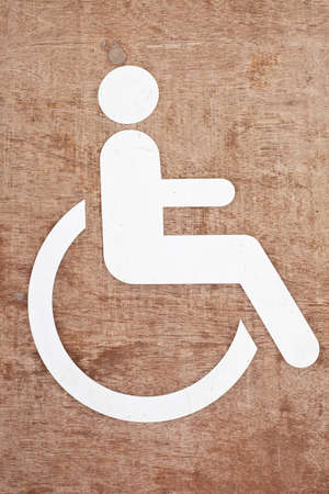 Disabled symbol  photo